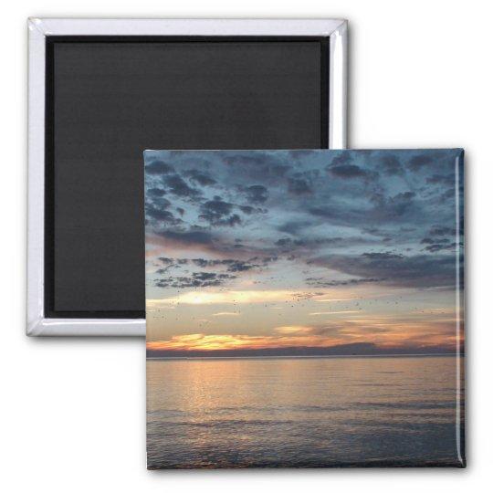 Cape Cod Beach Sunset Photo Magnet