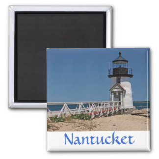 Cape Cod Brant Point Lighthouse, Nantucket MA, USA Square Magnet
