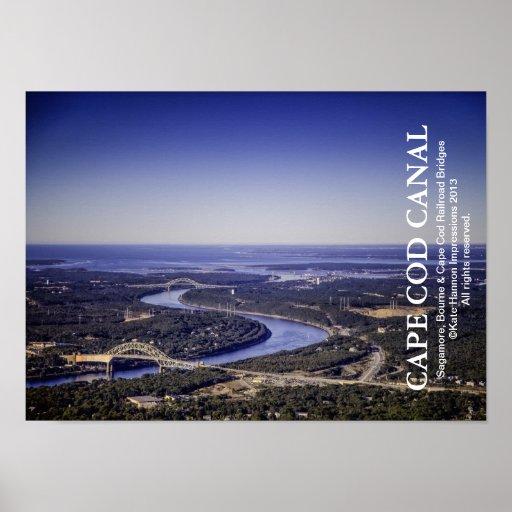 Cape Cod Canal - Bourne Sagamore Railroad Bridges Poster