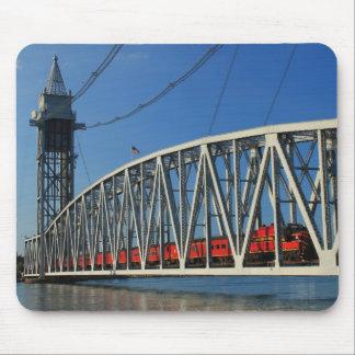 Cape Cod Canal Railroad Bridge Train Mouse Mat