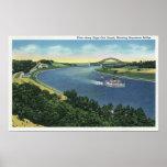 Cape Cod Canal View of Sagamore Bridge Poster
