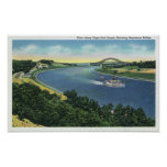 Cape Cod Canal View of Sagamore Bridge Posters