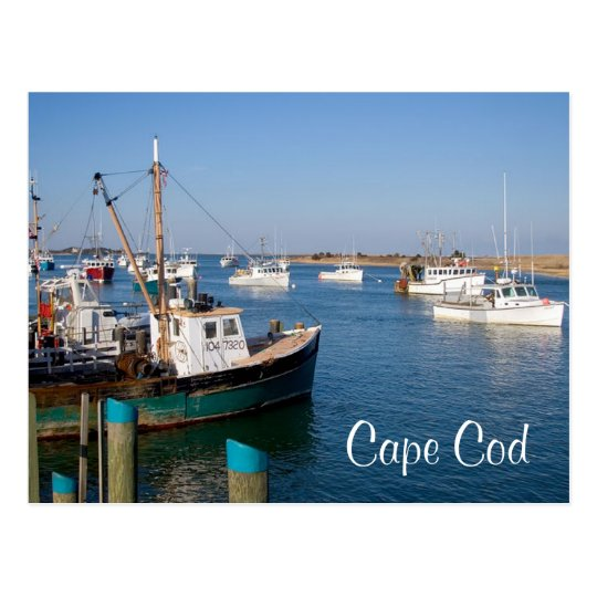 Cape Cod Chatham Mass Boats in Bay Post