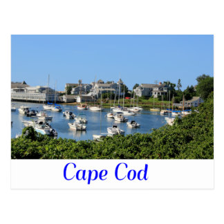 Cape Cod Harwich MA Wychmere Harbor Postcard