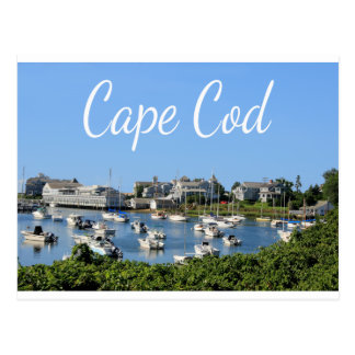 Cape Cod, Harwich MA Wychmere Harbor Postcard
