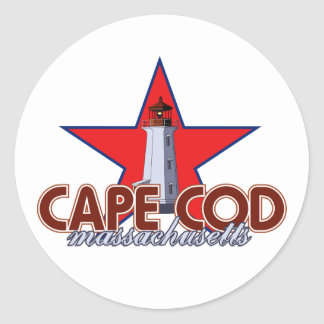 Cape Cod Lighthouse Classic Round Sticker