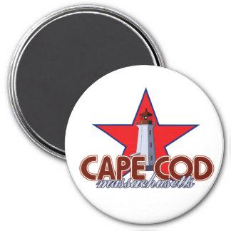 Cape Cod Lighthouse 7.5 Cm Round Magnet