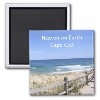 Cape Cod MA  Beach Heaven On Earth Fridge Magnet