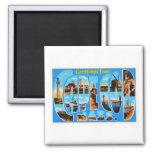 Cape Cod Massachusetts MA Vintage Travel Souvenir Square Magnet