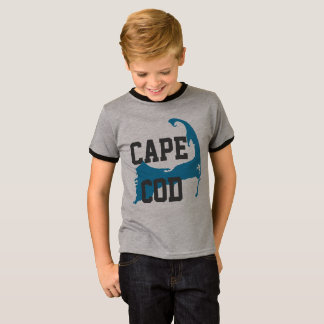 "Cape Cod Massachusetts ""University Style"", blue T-Shirt"