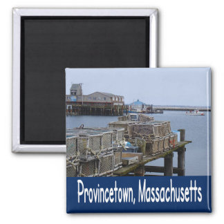 Cape Cod, Provincetown Massachusetts Lighthouse Square Magnet