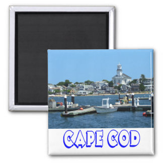 Cape Cod, Provincetown Massachusetts Lighthouse Square Magnet