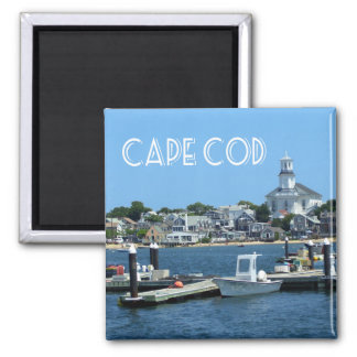 Cape Cod, Provincetown Massachusetts Square Magnet