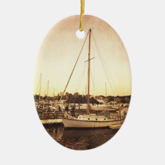 Cape Cod Sailboat Christmas Ornament
