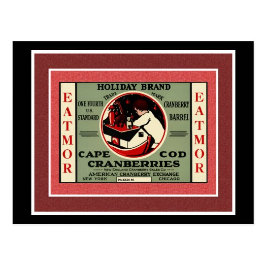 Cape Cod Santa Cranberry Postcard