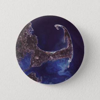 Cape Cod Satellite Photograph 6 Cm Round Badge