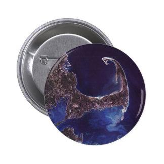 Cape Cod Satellite Photograph 6 Cm Round Badge