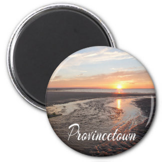 Cape Cod Sunrise,  Provincetown Massachusetts 6 Cm Round Magnet