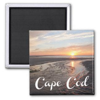 Cape Cod Sunrise,  Provincetown Massachusetts Square Magnet