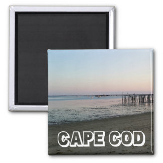 Cape Cod Sunset,  Provincetown Massachusetts Square Magnet