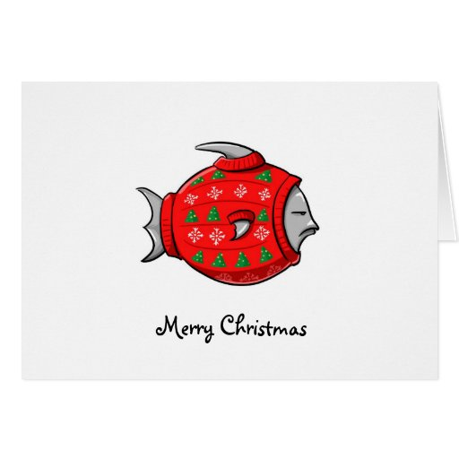 Cape Cod Tacky Christmas Sweater Greeting Cards