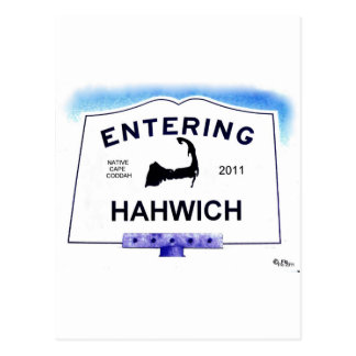 Cape Cod town, Hahwich (Harwich to 'outsiders') Postcard