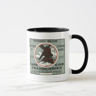 Cape Cod Windmill Brand Cranberry Label Mug