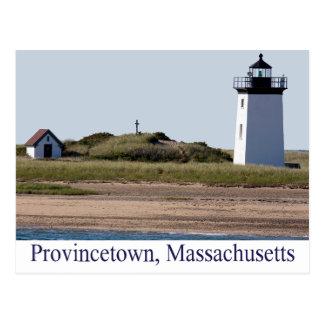 Cape Cod Wood End Lighthouse Provincetown MA Postcard