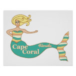 Cape Coral, FL Mermaid Poster