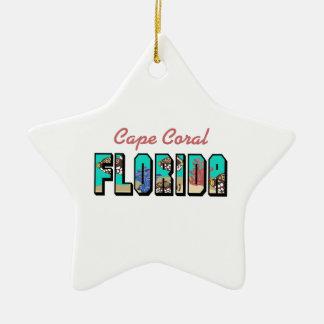 CAPE CORAL FLORIDA CERAMIC STAR DECORATION