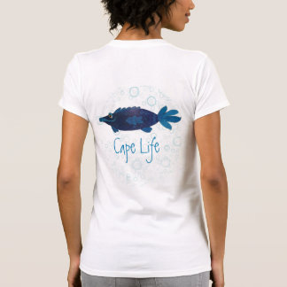 Cape Coral Florida Funny Fish Art Cape Life T-Shirt