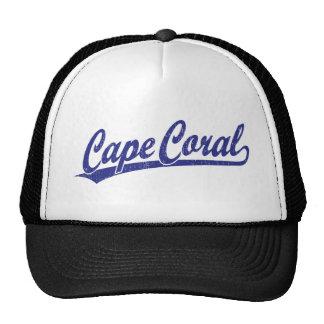 Cape Coral script logo in blue Cap