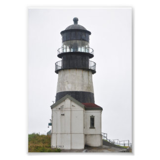 Cape Disappointment Lighthouse on Longbeach, WA Photographic Print