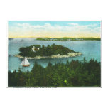 Cape Elizabeth View of Two Lighthouses Gallery Wrapped Canvas