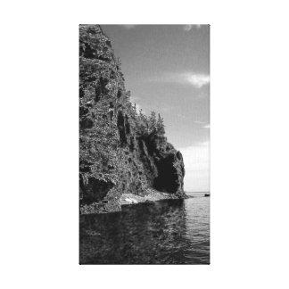 Cape Enrage Stretched Canvas Prints