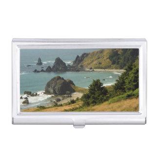 Cape Ferrelo, Vista, Ocean, Sea Stacks, Cove Business Card Holder
