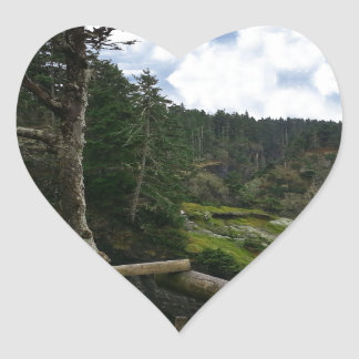Cape Flattery Olympic Peninsula - Washington Heart Sticker