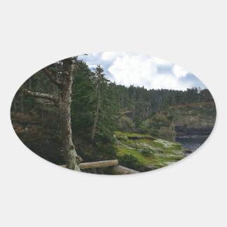 Cape Flattery Olympic Peninsula - Washington Oval Sticker