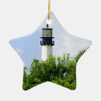Cape Florida Light Ceramic Star Decoration