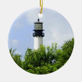 Cape Florida Light Round Ceramic Decoration