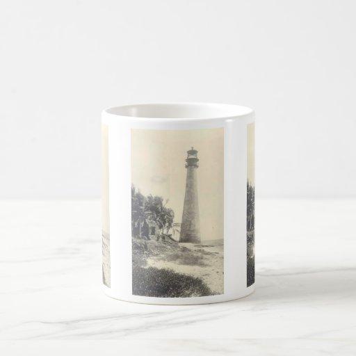 Cape Florida Lighthouse Basic White Mug