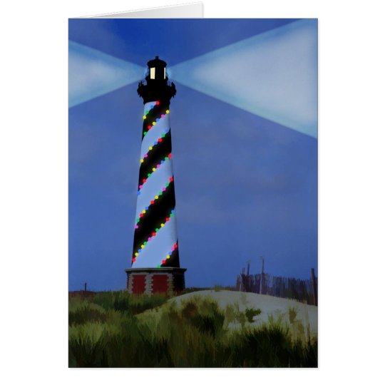 Cape Hatteras Holiday Lights Greeting Card