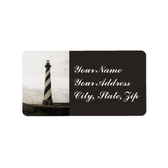 Cape Hatteras Lighthouse Address Label