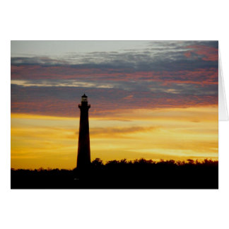 Cape Hatteras Lighthouse at Sunset Note Card
