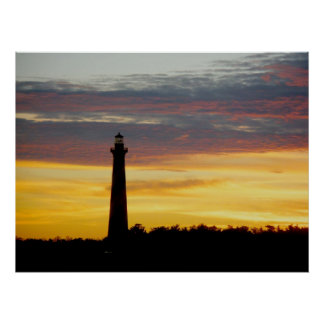Cape Hatteras Lighthouse at Sunset Poster
