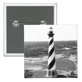 Cape Hatteras Lighthouse black and white photo 15 Cm Square Badge