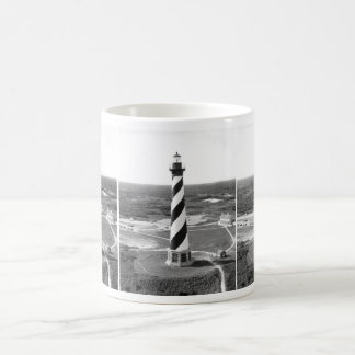 Cape Hatteras Lighthouse black and white photo Basic White Mug