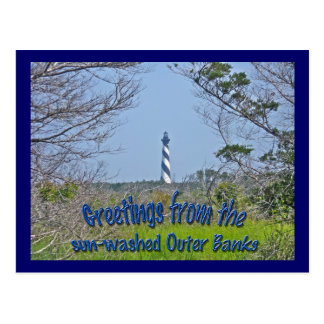 Cape Hatteras Lighthouse from Wetlands Series Postcard