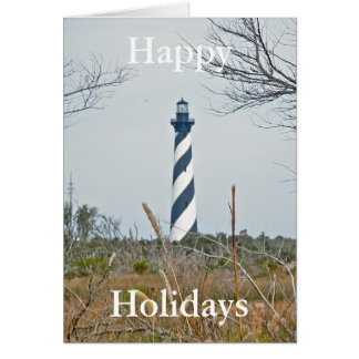 Cape Hatteras Lighthouse Happy Holidays Greeting Card