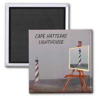 CAPE HATTERAS LIGHTHOUSE-MAGNET SQUARE MAGNET